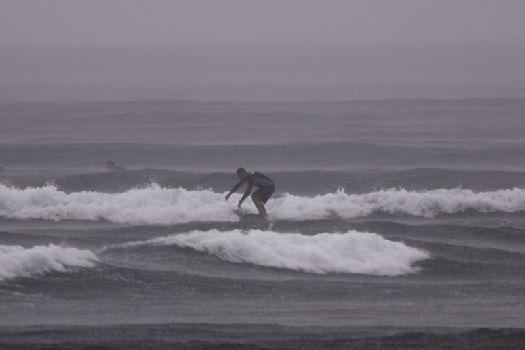 Зимний сёрфинг - не очень хорошая затея