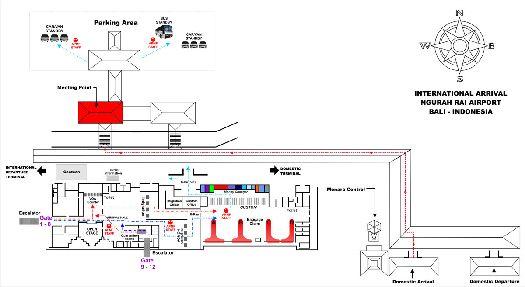 Схема зоны прилёта в терминале №2