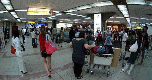 В терминале международных рейсов