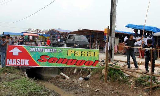 Рынок ''Pasar Senggol'' в Сануре