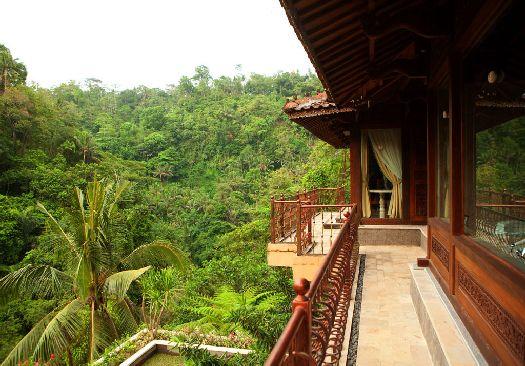 Балкон с видом на тропический лес