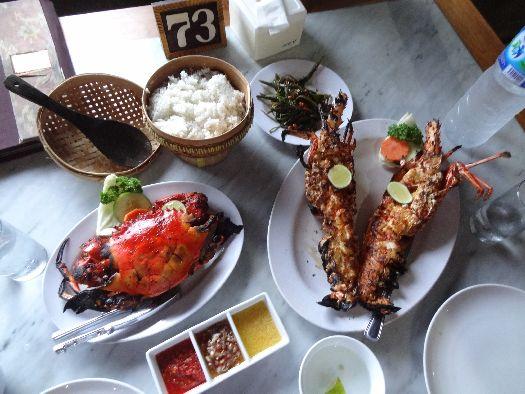 В Нуса-Дуа - большой выбор ресторанов, специализирующихся на блюдах из морепродуктов