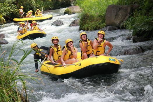 Рафтинг на Бали -  Основные маршруты это река Телага и река Аюнг