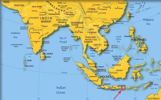 Убуд на карте мира